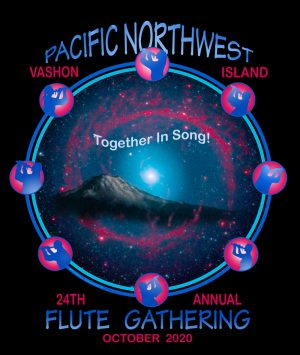 2020 Pacific Northwest Flute Gathering T-shirt design